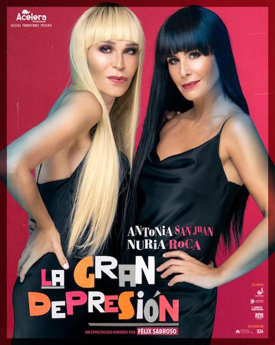 Programada una nueva función del estreno nacional del montaje 'La gran depresión' que protagoniza Antonia San Juan y Nuria Roca