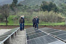 Las energías renovables permiten la extracción de agua de un pozo en Valsequillo
