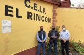 Juan Díaz, Consejero de Empleo y Desarrollo Local del Cabildo visita Valsequillo