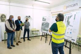 El consejero de deportes del Cabildo de GC visitó Valsequillo para comprobar el estado de las obras del nuevo centro deportivo
