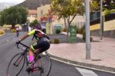 Inés Santana aterriza en Madrid para disputar el nacional de ciclismo