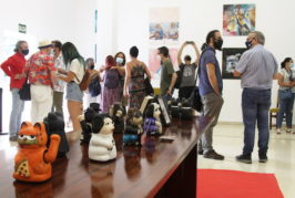Inaugurada en la sala del Canódromo de Schamann la muestra 'Encontronazos con el arte'